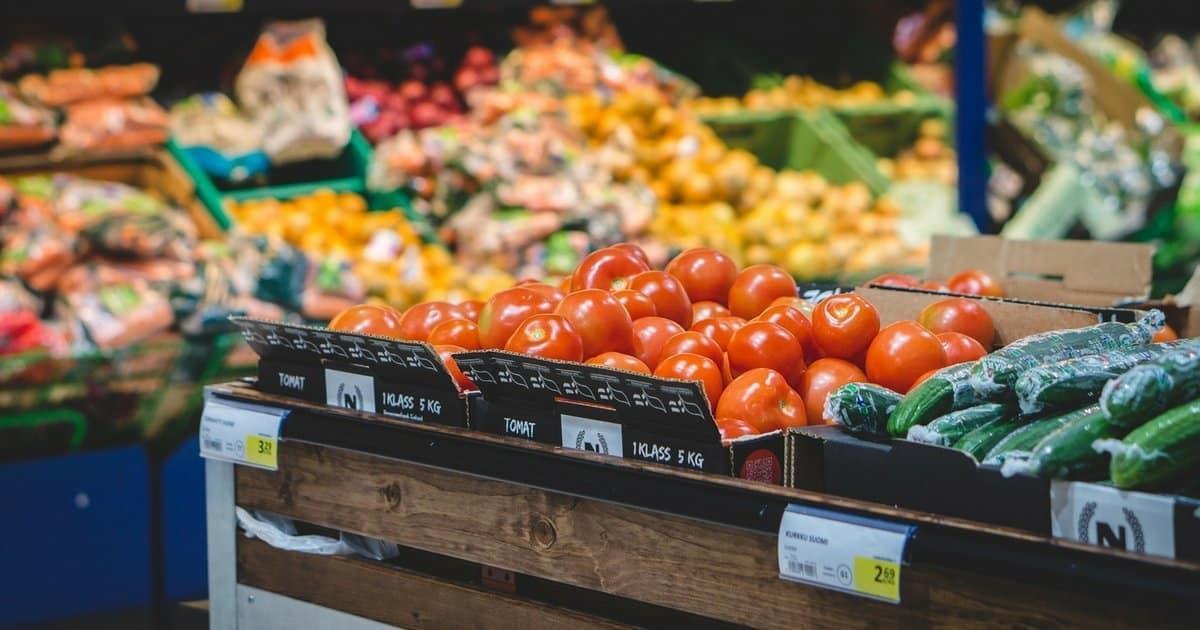 Gemüse auf dem Wochenmarkt