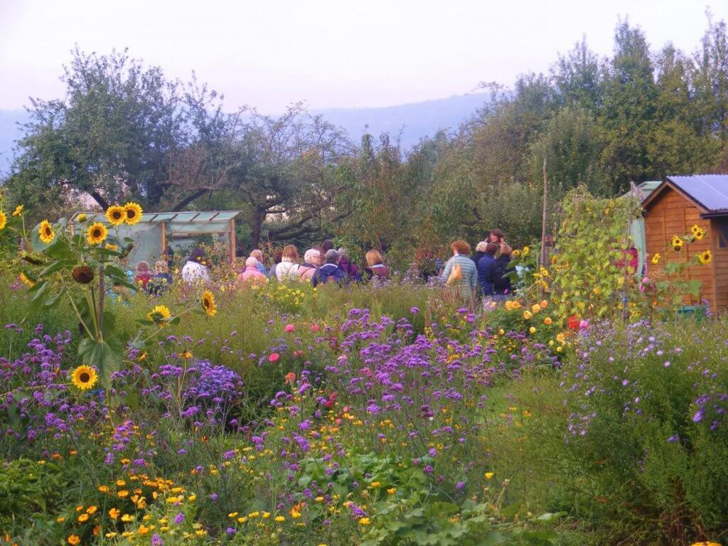 Führung durch den Biogarten Füllhorn