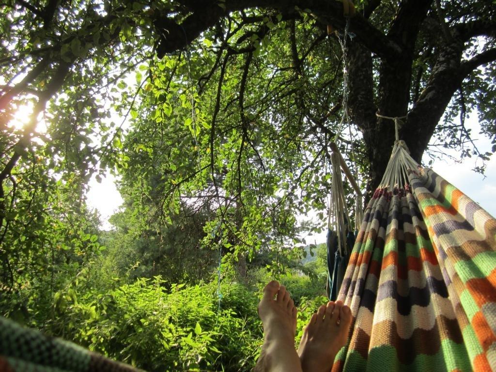 Entspannung im Garten finden in der Hängematte