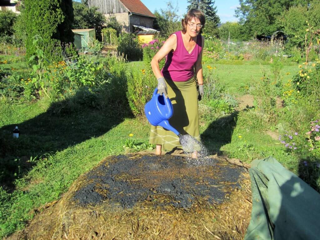 Kompost angießen mit sEM