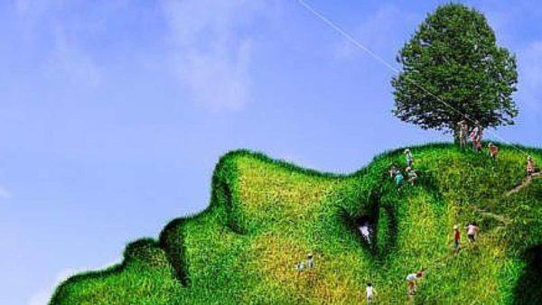 Mutter Erde gemalt