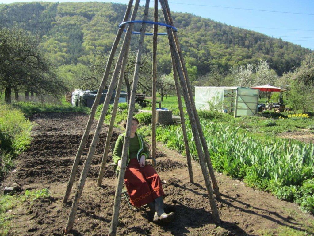 Sitzprobe im zukünftigen Bohnenzelt